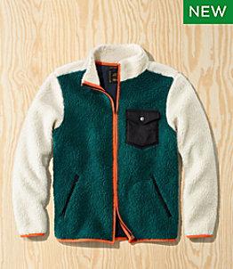 Men's L.L.Bean x Todd Snyder Hi-Pile Sherpa Shirt Jacket, Zip-Front, Pattern