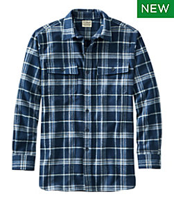 Men's Chamois Shirt, Slightly Fitted, Plaid