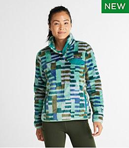 Women's L.L.Bean Hi-Pile Fleece Pullover, Print