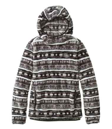 Women's L.L.Bean Hi-Pile Hooded Pullover, Print