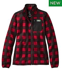 Women's L.L.Bean Sweater Fleece Full-Zip Overlay Jacket, Print
