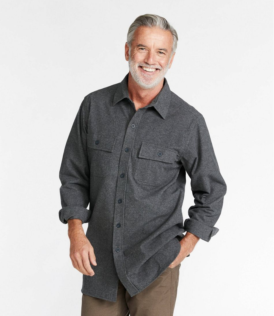 Men's Chamois Shirt, Slightly Fitted