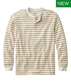 Men's Unshrinkable Mini-Waffle Henley, Traditional Fit, Stripe