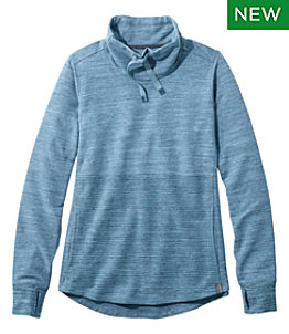 Women's L.L.Bean Cozy Mixed Pullover Sweatshirt, Marled