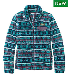 Women's L.L.Bean Hi-Pile Fleece Full-Zip Jacket, Print