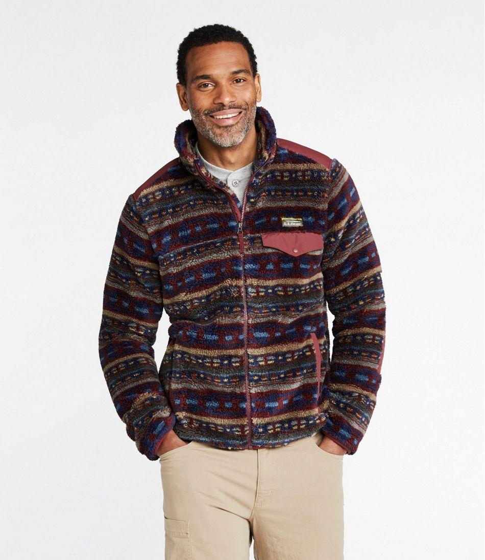 Men's L.L.Bean Hi-Pile Fleece Jacket, Print