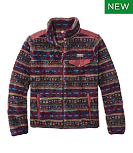 Men's L.L.Bean Hi-Pile Fleece Jacket, Print