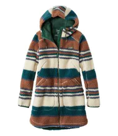 Women's Mountain Pile Fleece Coat, Stripe