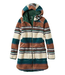 Women's Mountain Pile Fleece Coat, Stripe