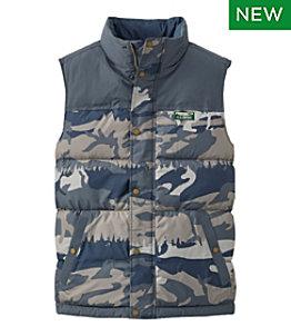 Men's Mountain Classic Down Vest, Print