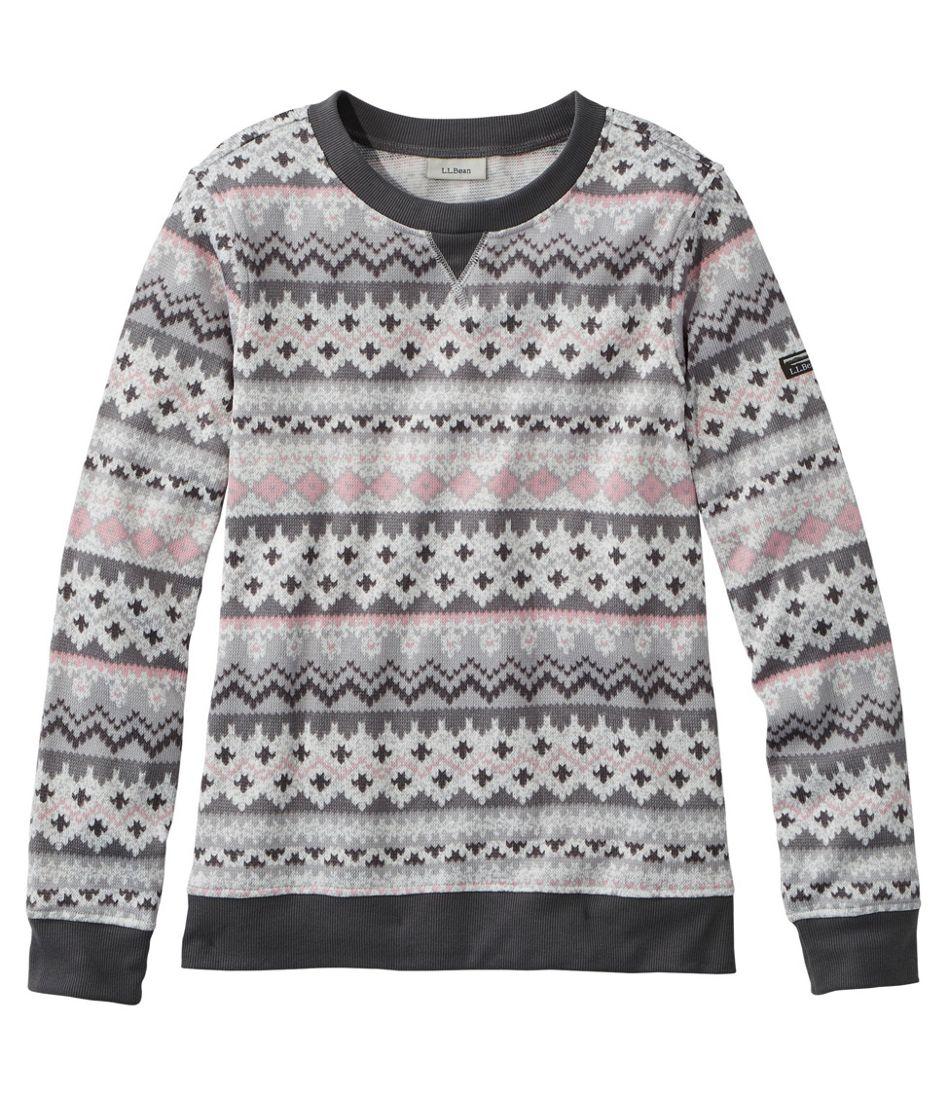 Women's Lightweight Sweater Fleece Top, Fair Isle
