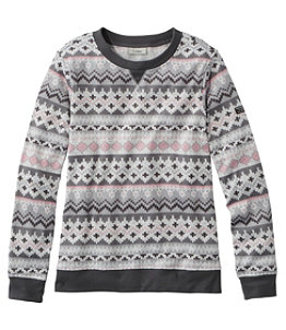 Women's Lightweight Sweater Fleece Top, Fair Isle