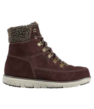 Women's Mountain Lodge Boots, Sherpa Insulated Lace-Up