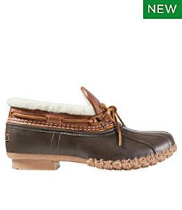 Women's Bean Boots, Rubber Moc Sherpa-Lined