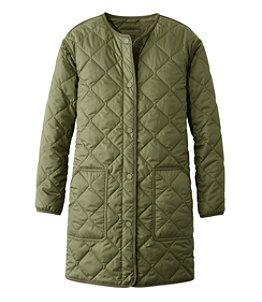Women's Collarless Puffer Coat
