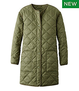 Women's Collarless Puffer Coat