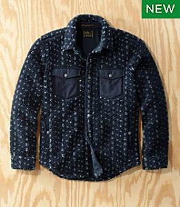 Men's L.L.Bean x Todd Snyder Hi-Pile Sherpa Shirt Jacket, Snap-Front, Pattern