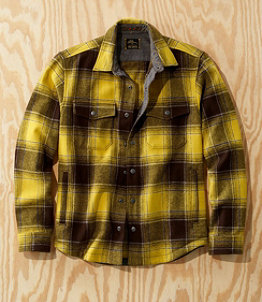 Men's L.L.Bean x Todd Snyder Wool Shirt Jacket, Plaid