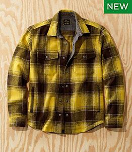 Men's L.L.Bean x Todd Snyder Wool Shirt Jacket, Plaid