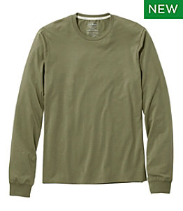 Men's Comfort Stretch Pima Tee Shirt, Long-Sleeve