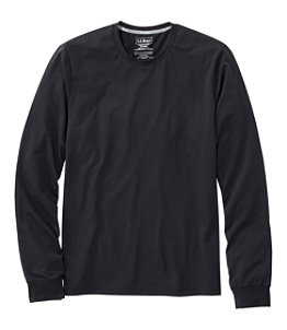 Men's Comfort Stretch Pima Tee Shirt, Long-Sleeve