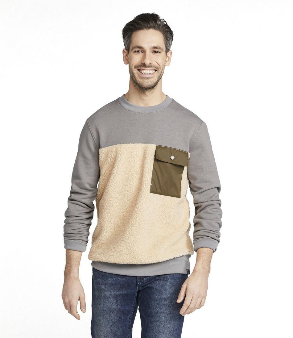 Men's Signature Sherpa Sweatshirt, Crewneck