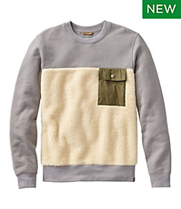 Men's Signature Sherpa Sweatshirt, Crewneck