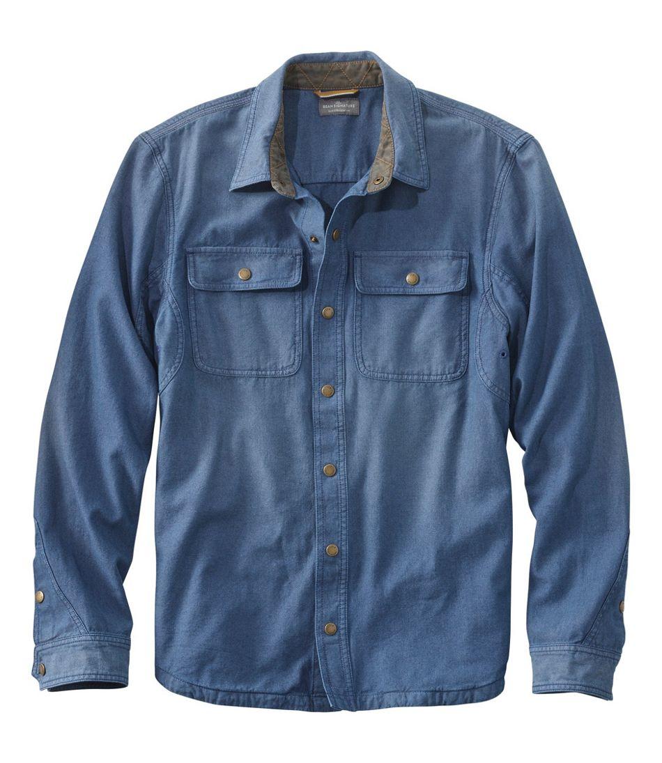 1920s Men's Shirts and Collars History Mens Signature Denim/Twill Shirt  AT vintagedancer.com