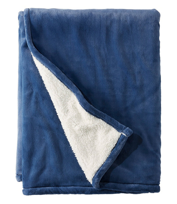 Wicked Plush Sherpa Throw, Large, Deep Blue, large image number 0