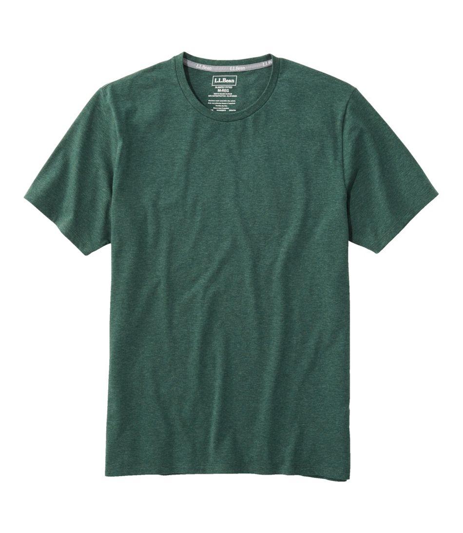 Men's Comfort Stretch Pima Tee Shirt, Short-Sleeve
