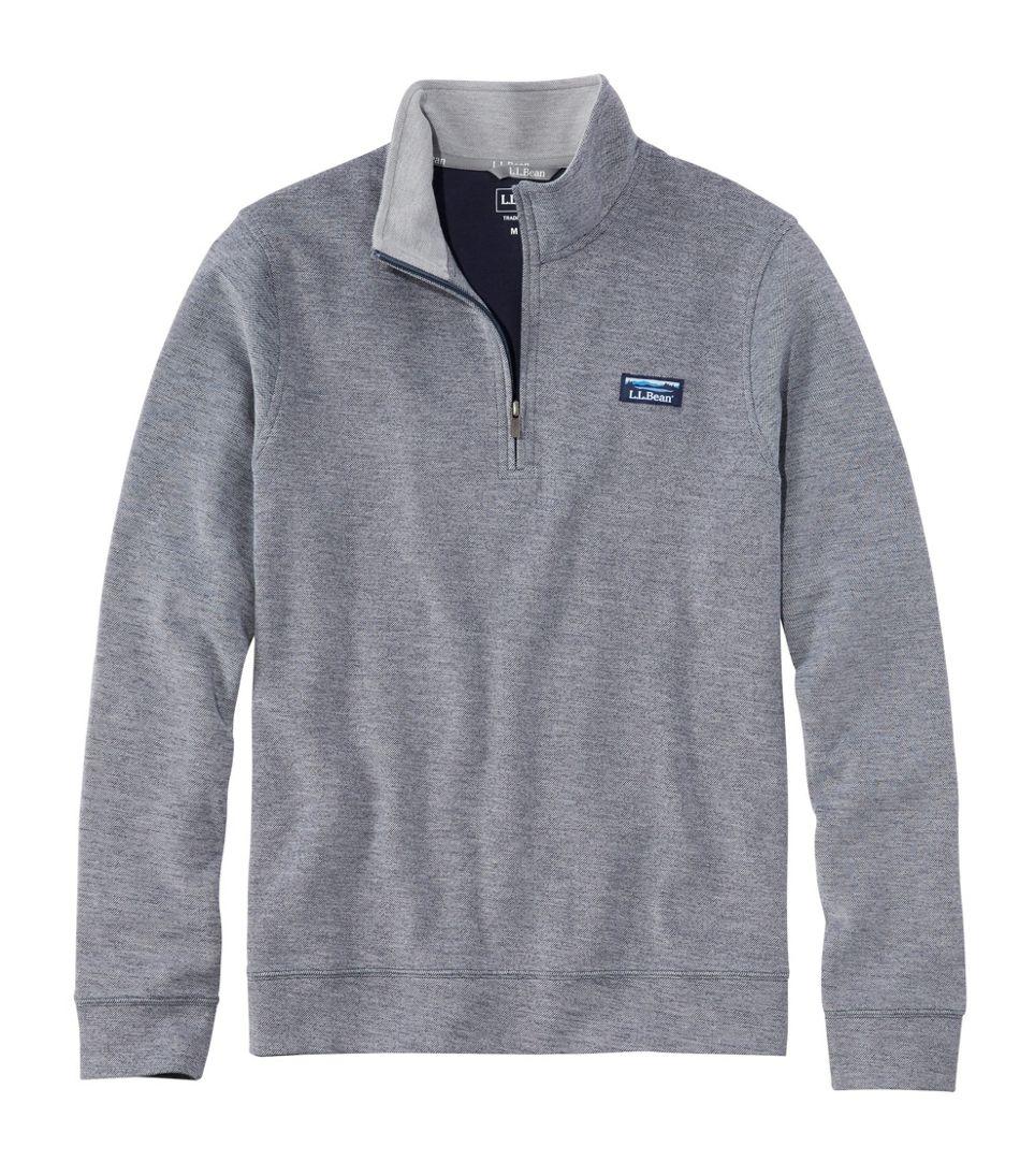 Men's Comfort Stretch Piqué Quarter Zip Pullover, Long-Sleeve