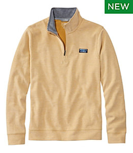 Men's Comfort Stretch Piqué Quarter Zip Pullover, Long-Sleeve