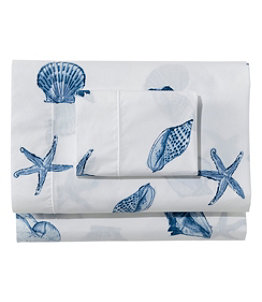 Seashell Percale Sheet Collection