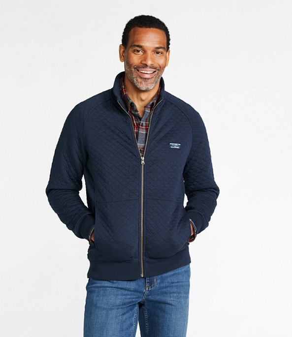 Quilted Sweatshirt Full-Zip, , large image number 1
