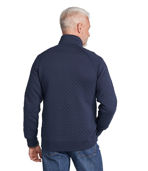 Quilted Sweatshirt Full-Zip, , large image number 2