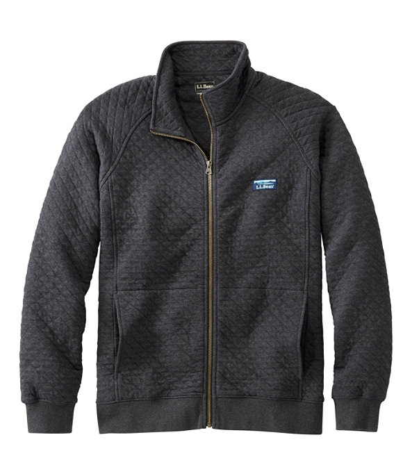 Quilted Sweatshirt Full-Zip, , large image number 0