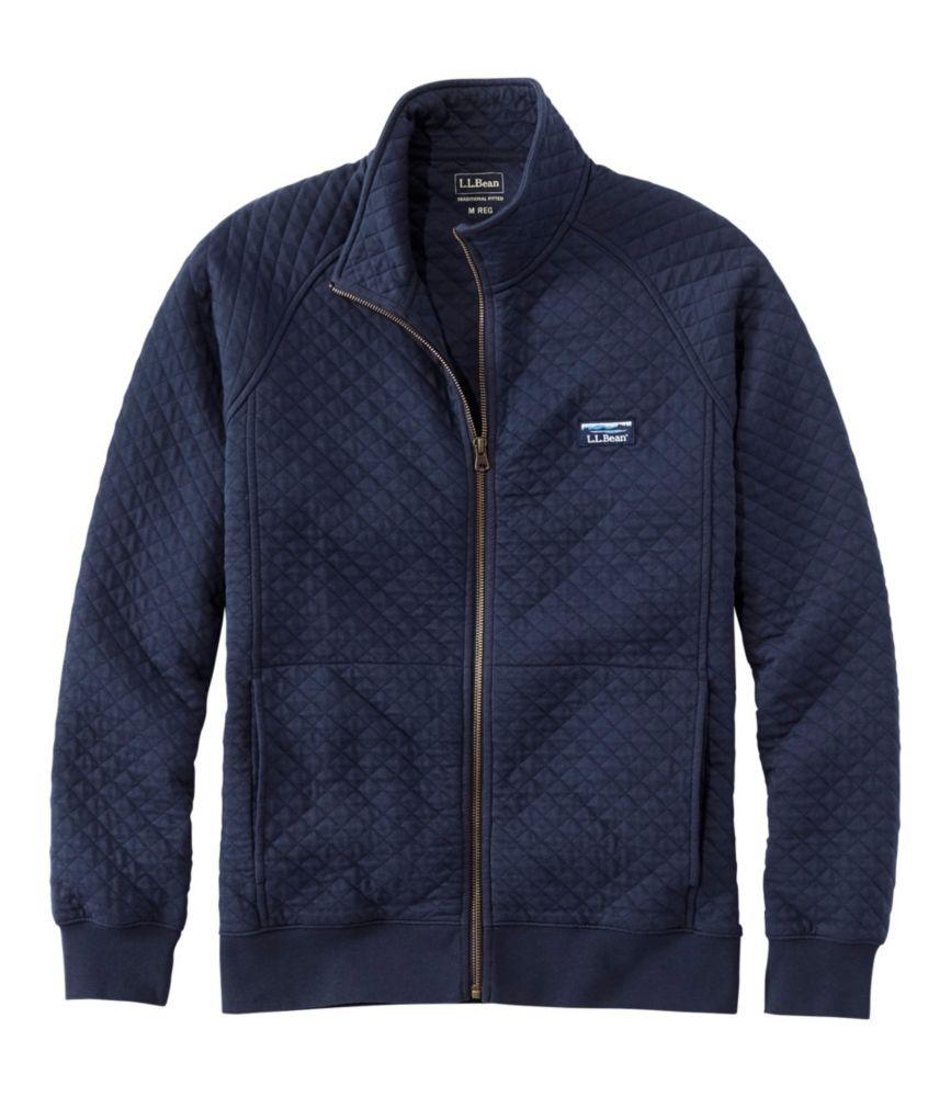 Quilted Sweatshirt, Full-Zip