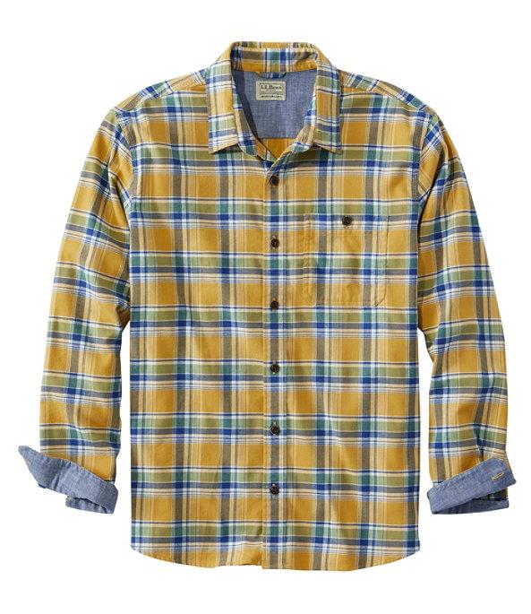 Men's BeanFlex Flannel Shirt, Warm Gold, large image number 0