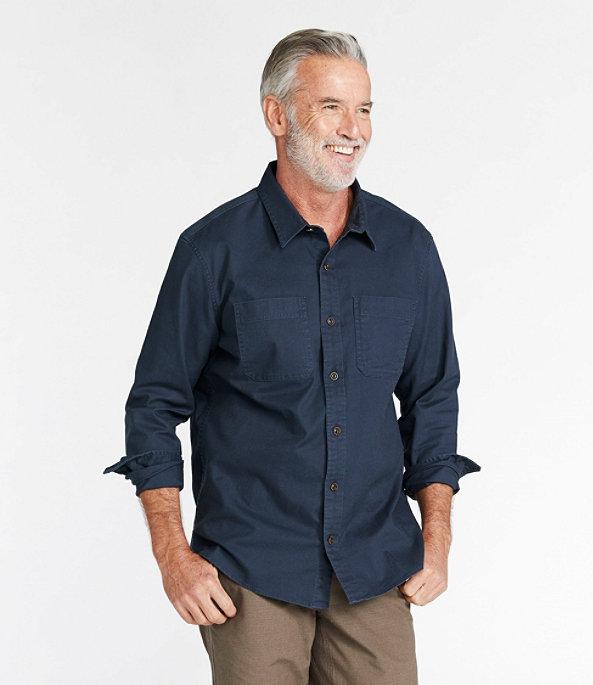 Men's BeanFlex Twill Shirt, Carbon Navy, large image number 1