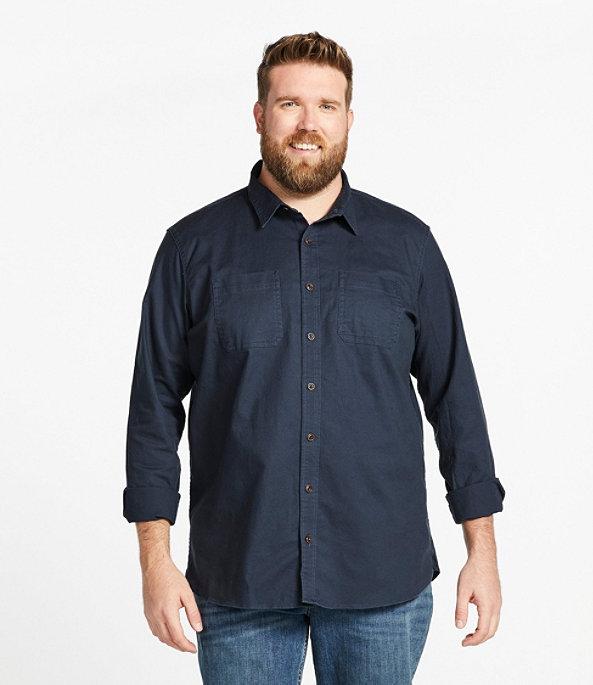Men's BeanFlex Twill Shirt, Carbon Navy, large image number 3