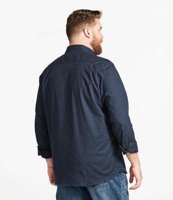 Men's BeanFlex Twill Shirt, Carbon Navy, large image number 4