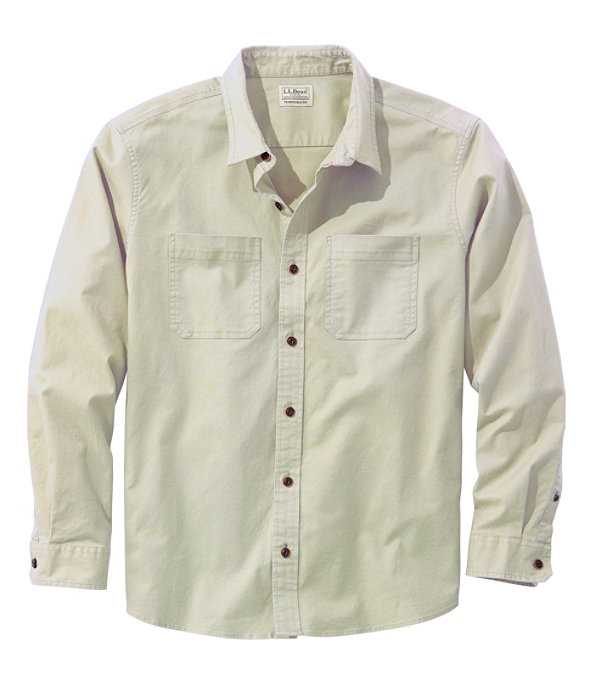 Men's BeanFlex Twill Shirt, Pale Khaki, large image number 0