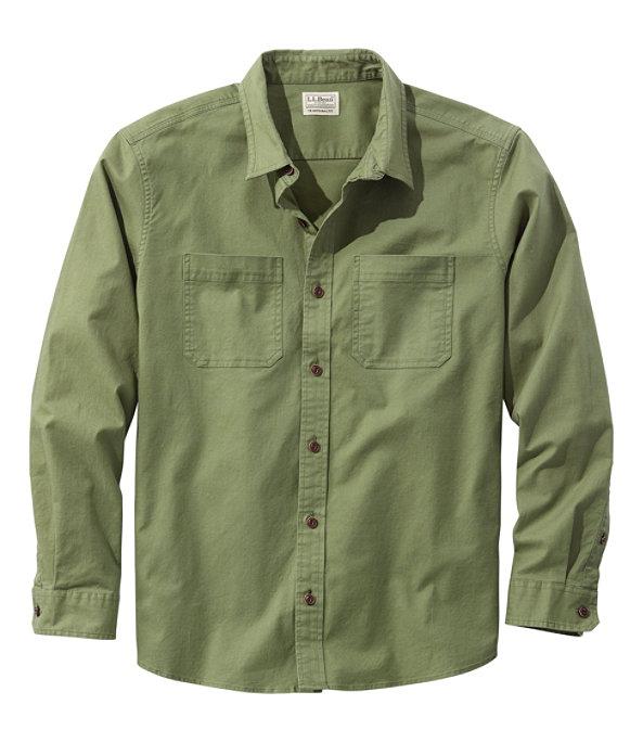 Men's BeanFlex Twill Shirt, Sage, large image number 0