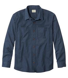 Men's BeanFlex Twill Shirt, Traditional Untucked Fit, Long-Sleeve