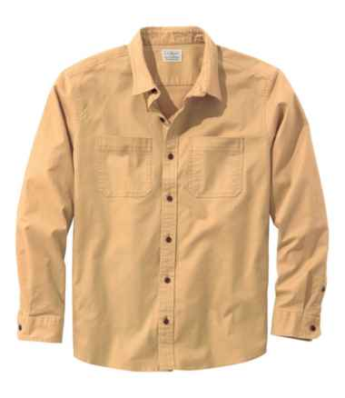 Men's BeanFlex Twill Shirt, Long-Sleeve, Traditional Fit