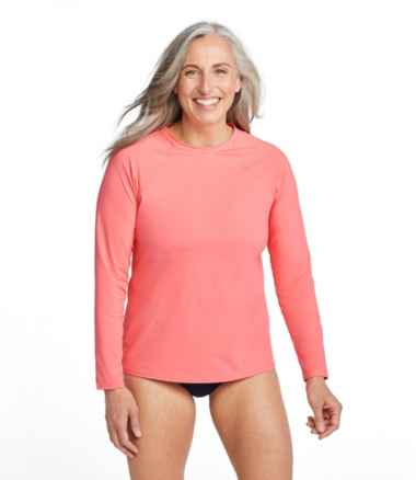 Women's ReNew Swimwear, Crewneck Rash Guard