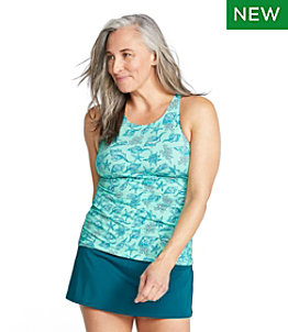 Women's BeanSport Swimwear, High-Neck Tankini Print