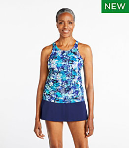 Women's BeanSport Swimwear, High-Neck Tankini Print