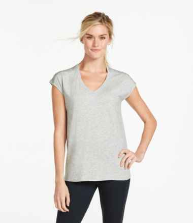 Women's Beyond Soft V-Neck Tee, Short Sleeve