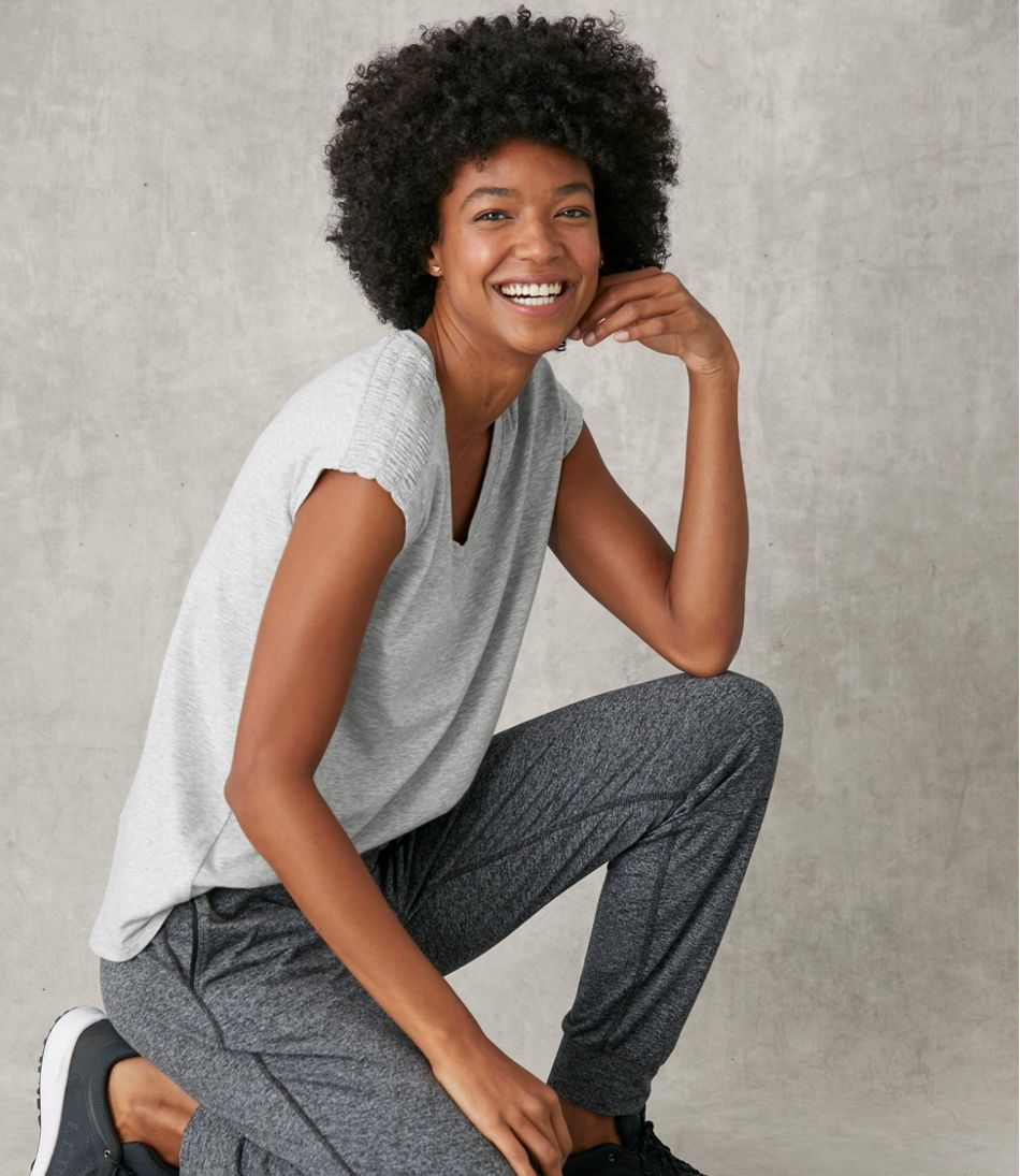 Women's Beyond Soft V-Neck Tee, Short Sleeve
